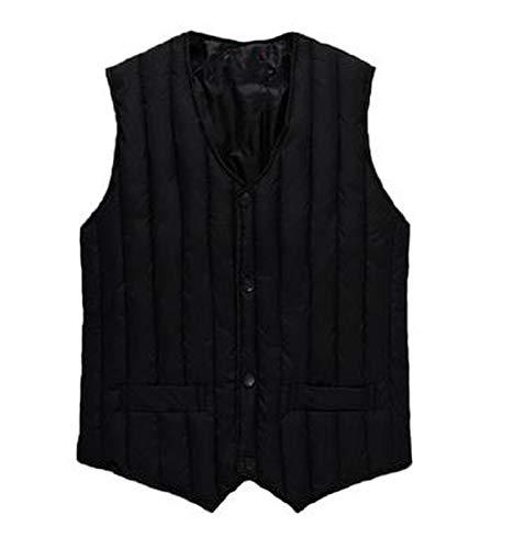 Graunt Man Autumn Down Vests Male Winter Oversize Down Vest Men Spring Warm Vest,Black Down Vests,M