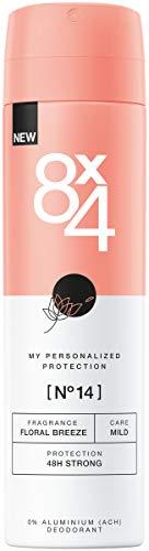 8X4 Deo Spray N°14 Floral Breeze (150 ml), Damen Deodorant mit frisch-floralem Duft, 48h zuverlässiges Deo ohne Aluminium (ACH) für jeden Hauttyp