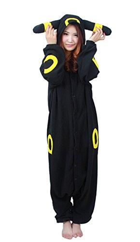 wotogold Pijamas de Umbreon Animal Trajes de Cosplay Adultos Unisex Black