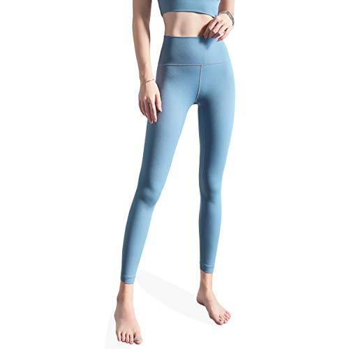 ROSEBEAR Vrouwen Hoge Taille Tight Yoga Broek met Taille Pocket Tummy Controle Fitness Hardlopen Workout Yoga Leggings Zwart S M Blauw