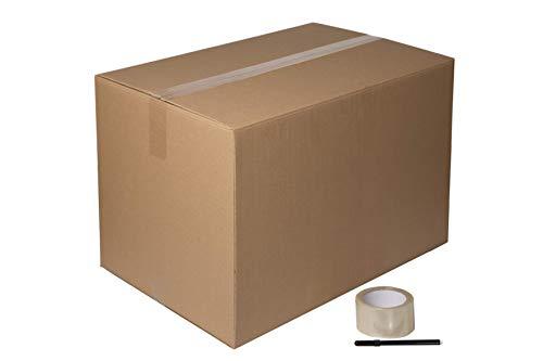DeCampos - 10 Cajas Carton Mudanza Grandes 60x40x40 cm + Precinto +...