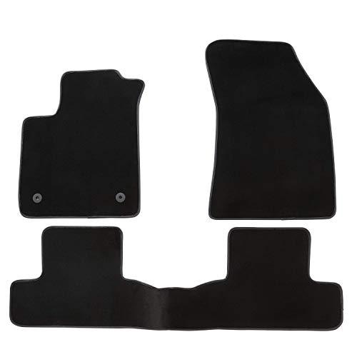 DBS Tapis de Voiture - sur Mesure pour Megane 4 (2015-2020) - 3 pièces - Tapis de Sol antidérapant pour Automobile - Moquette Premium