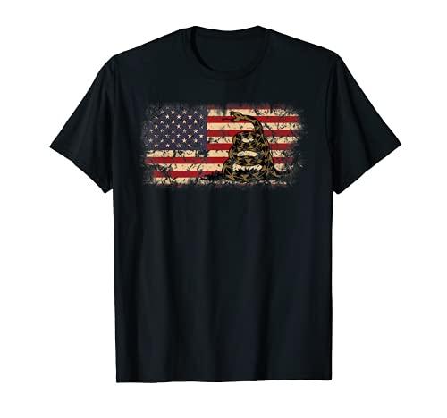 Gadsden Bandera de Serpiente - America USA Patriótico Regalo Vintage Camiseta