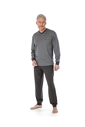 Hajo Klima Light Herren Schlafanzug Klima Light Farbe: Grau 50/M
