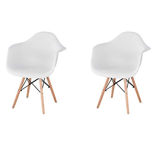Comfortableplus - Juego de 2 sillas de Ocio con Brazo