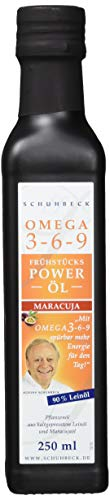 Schuhbeck Frühstücks Power Öl - Maracuja Omega 3-6-9, 1er Pack (1 x 250 ml)