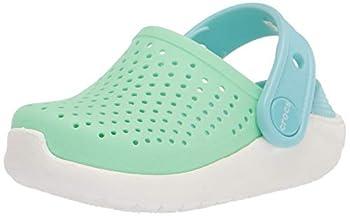 Crocs Kids  LiteRide Clog Neo Mint/White 12 US Unisex Little