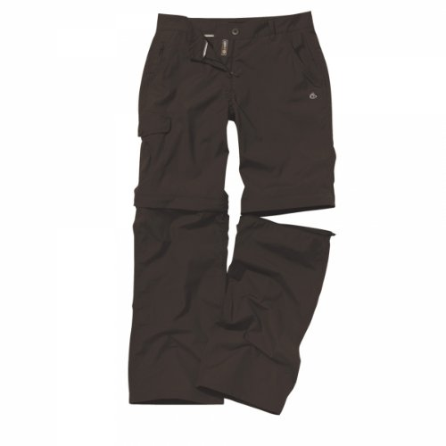 Craghoppers Kiwi Pantalon Convertible pour Femme Marron Cacao 18-(Regular)