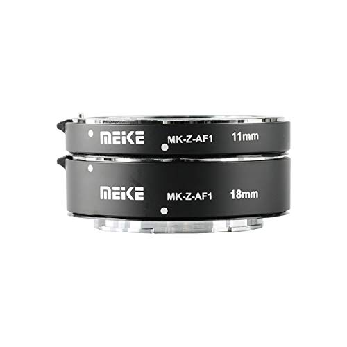Meike MK-Z-AF1 Metal Auto Focus Macro Extension Tube Adapter Ring (11mm+18mm) Compatible with Nikon Z5 Z6 Z7 Z50
