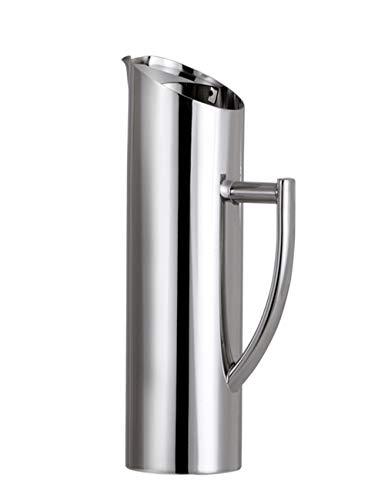 SJQ-coffee pot CafetièRe Oblique Droite en Acier Inoxydable - Marmite à Eau Portable - avec PoignéE Anti-DéRapante Artisanale Polie - Convient au Bar de FêTe (1l / 1,5l / 2l)