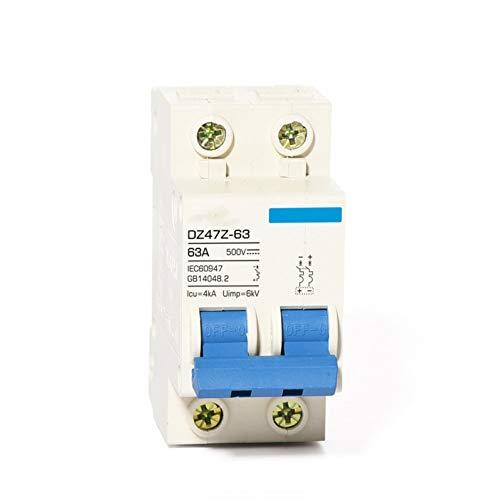 DLQLBD Leitungsschutzschalter Solarenergie Pv Mcb Dc 1000V Leitungsschutzschalter 2P 60A 500V 600V Photovoltaik-Stromerzeugungsschalter 63A 50A 40A 32A E630E