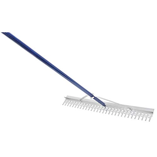 Extreme Max 3005.4095 36' Commercial-Grade Screening Rake for Beach and Lawn Care with 66' Handle, Silver