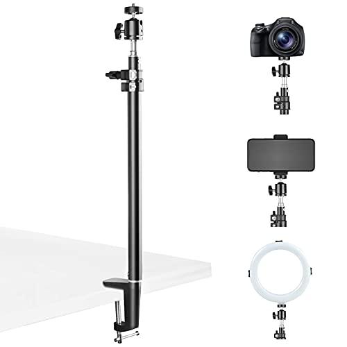 BLAZOR treppiede per telefono, supporto per treppiede da tavolo multifunzione compatibile fotocamera/ipad/luce ad anello/smartphone/fotocamera video, supporto per con testa a sfera a 360 °