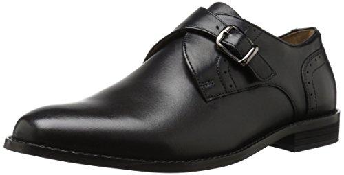 Nunn Bush Men Sabre Monk Strap Slip-On Loafer, Black, 10.5