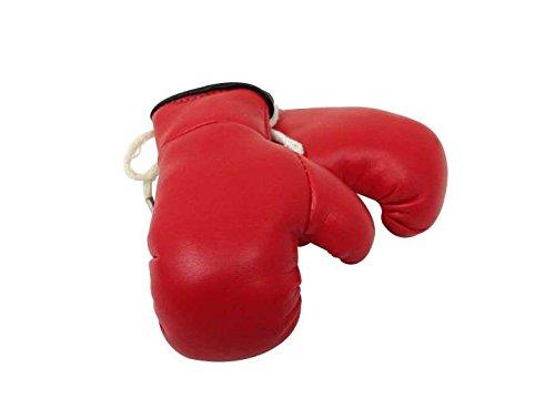 Mini Boxhandschuhe ROT, 1 Paar (2 Stück) Miniboxhandschuhe z. B. für Auto-Innenspiegel