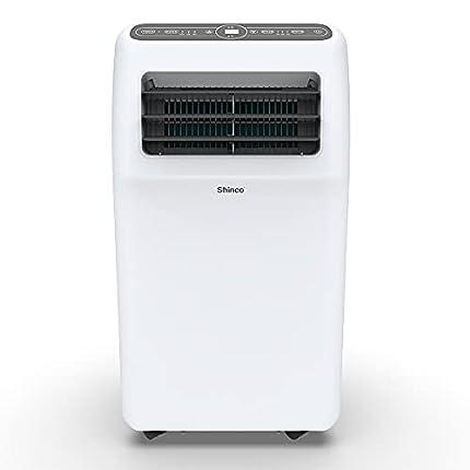 SHINCO 3,5 kW 12000 BTU Aire Acondicionado Portátil, Enfría, Ventila y Deshumidifica, Mando a Distancia, Blanco, hasta 60 m²