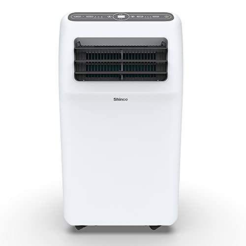SHINCO 9000BTU Climatiseur Portable, 2,6 KW, Fonction 3-en-1 avec Tuyau D'échappement,Refroidissement et Déshumidificateur et Ventilation, Eco R290