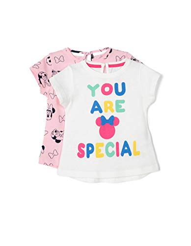 ZIPPY Pack de 2 Camisetas Minnie SS20, Cloud Dancer 11/4201 TC, 12/18M para Bebés