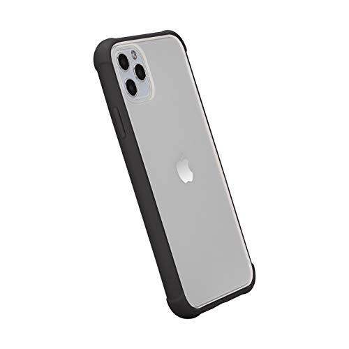 AmazonBasics - Funda protectora para iPhone 11 Pro Max, TPU+PC (negro), antiarañazos