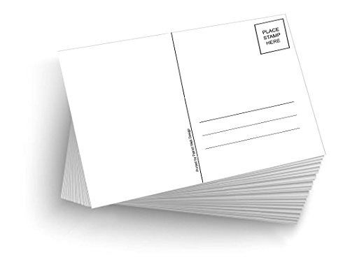 100 Blank Mailable 4'x6' Heavy Duty 14PT Postcards with Mailing Side