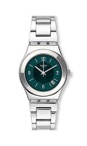 Swatch Reloj Analógico para Mujer de Cuarzo con Correa en Acero Inoxidable YLS468G