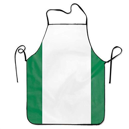 Wistty Männer & Frauen Nigerianische Flagge Nigeria Minirock Chef & Koch Küchenlatzschürze Perfekt zum Kochen, Backen, Basteln, Grillen