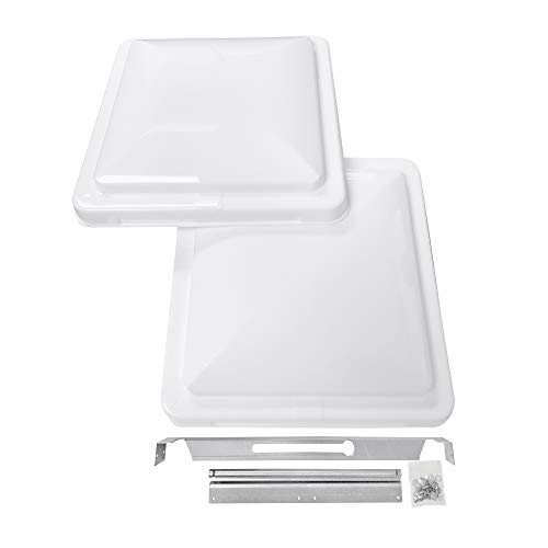 Camp'N 14' Universal RV, Trailer, Camper, Motorhome Roof Vent Cover - Vent Lid Replacement (White 1 Pack)