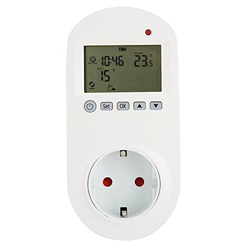 COHU Termostato de Enchufe, termostato programable 5‑60 ℃ / 40‑140 ℉ Instalación enchufable para válvulas de Bola eléctricas para válvulas de solenoide o Calentadores
