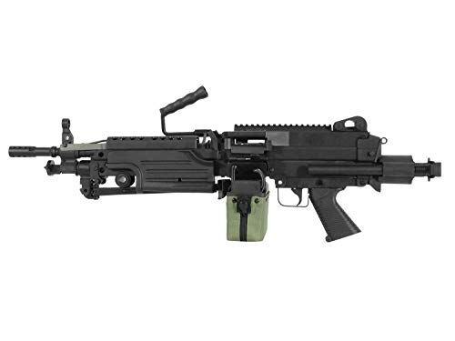 A&K Airsoft M249 para Softair LMG AEG, Nylon 'Upgrade' Version, 11.1V Ready, CNC Stahl Gears <0,5 J.