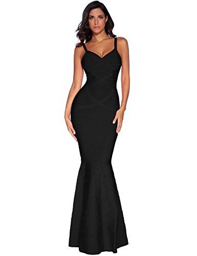 meilun Women's Maxi Bandage Dress Fishtail Bodycon Formal Evening Dresses