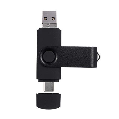 AreTop 3 IN 1 Type-C USB-Sticks 2.0 Speicherstick 32GB Datenspeicher OTG Flash Drive für Type-C-Smartphones, Tablets und Computer,schwarz