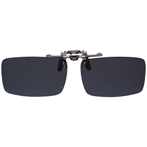 GoodsLand 【 8color 】 クリップオン サングラス 偏光 釣り 運転 調光 眼鏡 メガネ クリップ式 メンズ レディース GD-CL-GLASS-BK