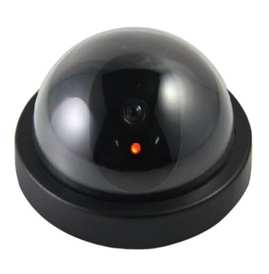 Okayji Dummy Fake Security CCTV Dome Camera with Flashing Red LED Light