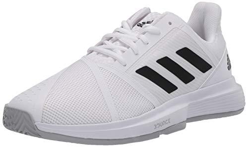 adidas Men s CourtJam Bounce Tennis Shoe, FTWR White core Black Matte Silver, 9.5 M US