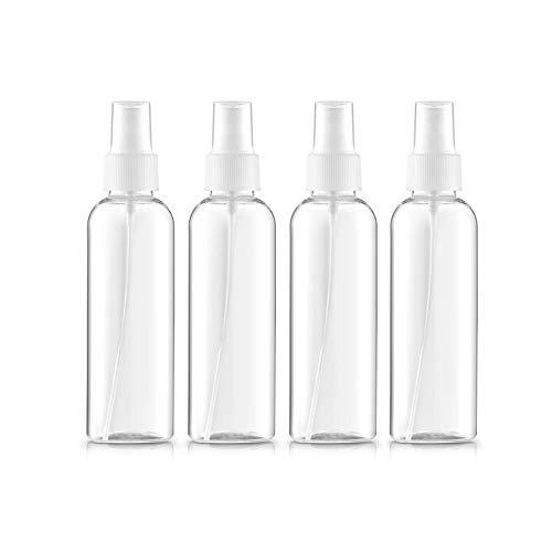 4pcs / Set Claro Plástico Reutilizable Aerosol Botellas De La Niebla Fina Niebla Botellas del Aerosol del Atomizador Líquido De La Pipeta del Envase Niebla Fina Plástica del Viaje del Atomizador (100