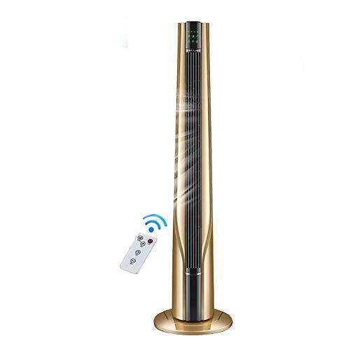 YANGLOU - Ventilador de aire acondicionado- Aire Cooler Torre portátil Ventilador 9 Sentidos de viento 90 ° Suministro de aire de gran angular Táctil Smart Screen Control remoto de hogar Sin hojas Tie
