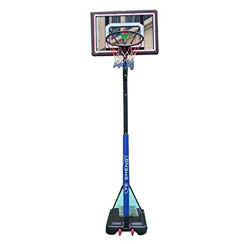 XHCP Ground Basketball Stand, Adjustable Height 180-305cm Basketball Hoop with Wheels Shatterproof Backboard, Portable Adult Basketball System for Indoor Outdoor Basketball Court Basketball System