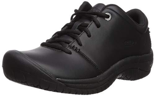 KEEN Utility Women's PTC Oxford Low Height Non Slip Chef Food Service Shoe, Black/Black, 10.5 Medium US