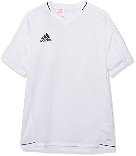 adidas Tiro 17 Training Jersey Youth Camiseta, niños, Blanco (Negro), 152
