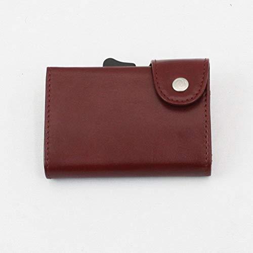 c-secure カードケースホルダーXL ミニ財布 レッド
