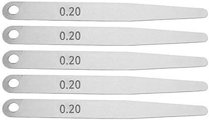 0.2 5Pcs 0.2//0.3 Acciaio inossidabile Spessimetro Spessimetro Righello Saldatura Ispezione Strumento di misura di alta precisione