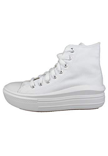 Converse Move Platform Hi Zapatillas Blancas para Mujer-UK 5 / EU 37.5