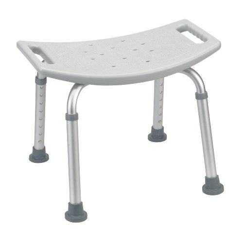 Drive Medical Deluxe Aluminum shower bench Without Back, Gray, 1 Each 1 count