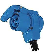 as - Schwabe CEE-hoekkoppeling Caravan - 230 V / 16 A campingkoppeling met geaarde contactdoos - voor caravans en campers - geschikt voor buitengebruik - IP44 - blauw I 60474