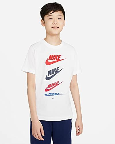NIKE DH6527-100 B NSW tee Futura Repeat T-Shirt Boys White L
