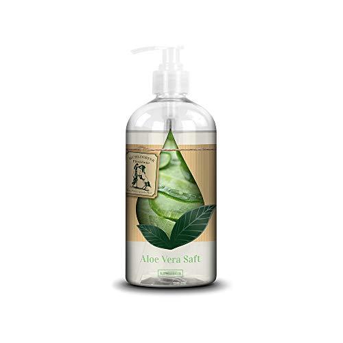 Mühldorfer Aloe Vera Saft, 500 ml, unterstützt das Wohlbefinden, reines Naturprodukt, praktische Spenderflasche, Einzelfutter für alle Pferde