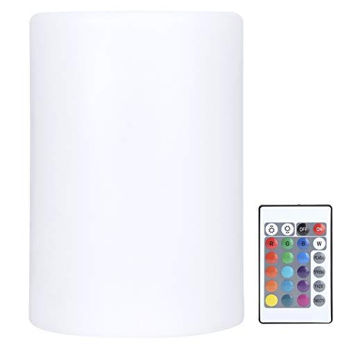 FEBT Lámpara cilíndrica, Brillo Ajustable Control Remoto ecológico Modos Ajustables Luz Nocturna cilíndrica, para restaurantes, Discotecas