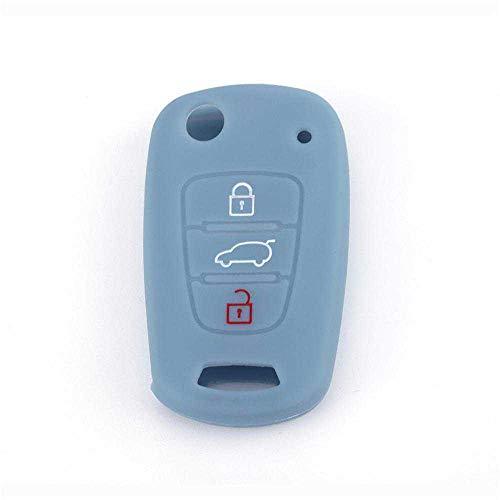 MPOQZI Carcasa de silicona para llave de coche, para Kia Rio K2 K3 K5 Sportage Soul Optima Ceed Sorento Hyundai I20 I30 I35 Ix20 Ix35 3 botones