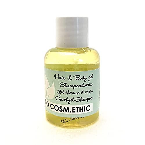 Eco Cosm.Ethic – ShampooDoccia Ecologico in boccetta Inglesina, 32 ml, Certificazione EU Ecolabel, Profumazione Agrumata, Linea cortesia ecologica per Hotel e B&B - 285 pz-