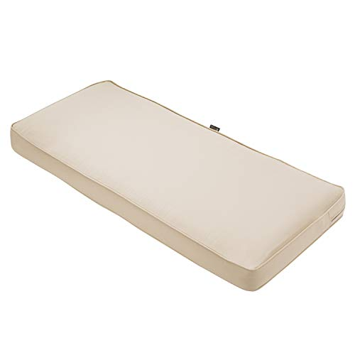 Classic Accessories Montlake Bench Cushion Foam & Slip Cover, Antique Beige, 48x18x3' Thick